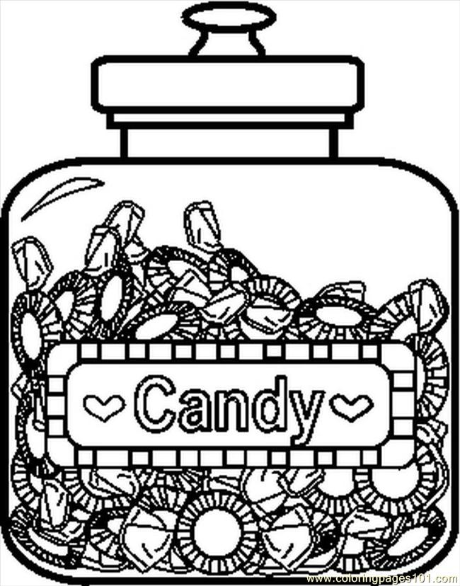 Candyjar3bw Coloring Page