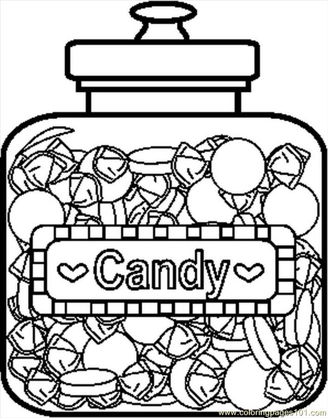 Candyjar5bw Coloring Page Free Candy Coloring Pages