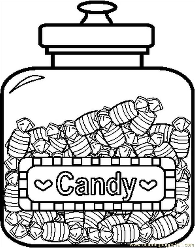 Candyjar9bw Coloring Page Free Candy Coloring Pages