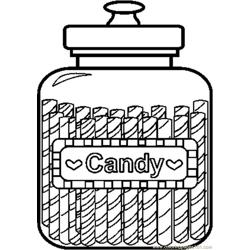 Candyjar10bw coloring page