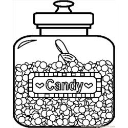 Candyjar1bw Free Coloring Page for Kids