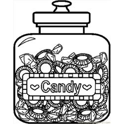 Candy7bw Coloring Page