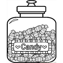Candyjar9bw coloring page