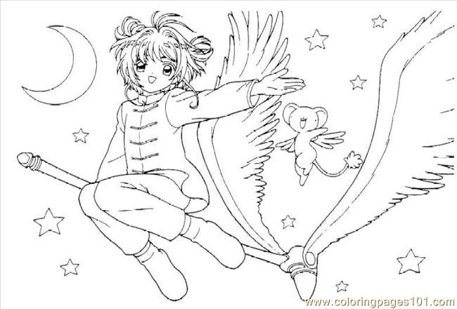 cardcaptors sakura 1 10 coloring page - Cardcaptor Sakura Coloring Pages