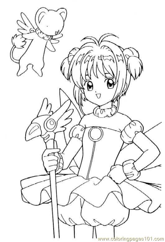 cardcaptors sakura 1 8 coloring page - Cardcaptor Sakura Coloring Pages