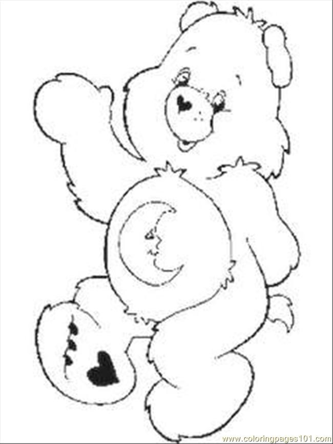 Care Bear Coloring Pages 1 Coloring Page Free Care Bears