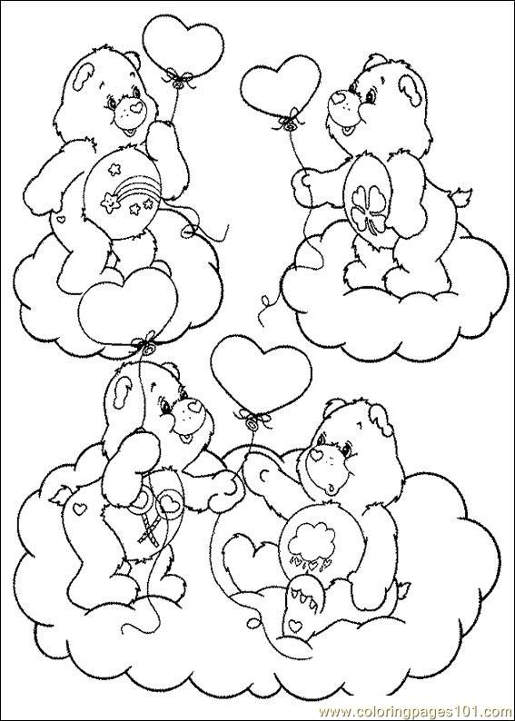 care bear coloring pages christmas - photo#14