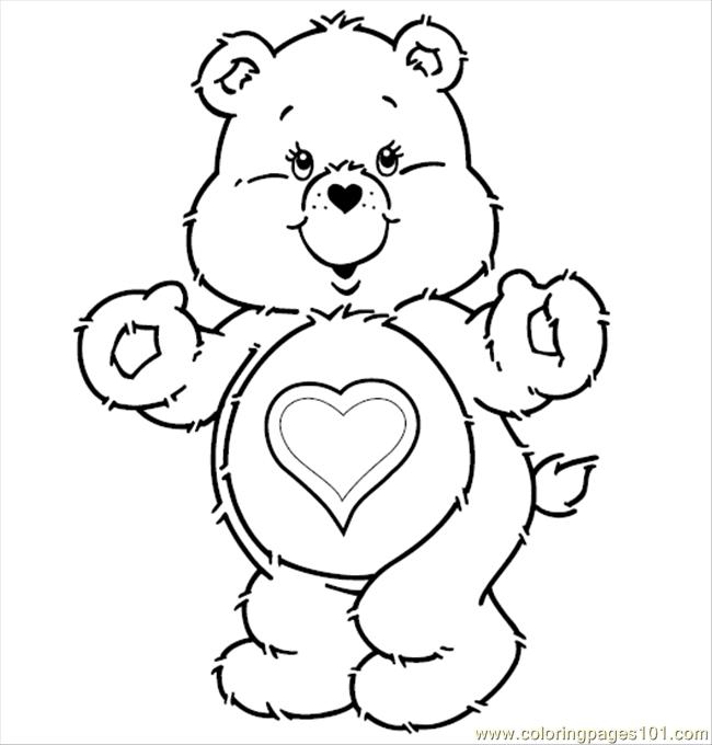Care Bears T Coloring Page Free Care Bears Coloring Pages