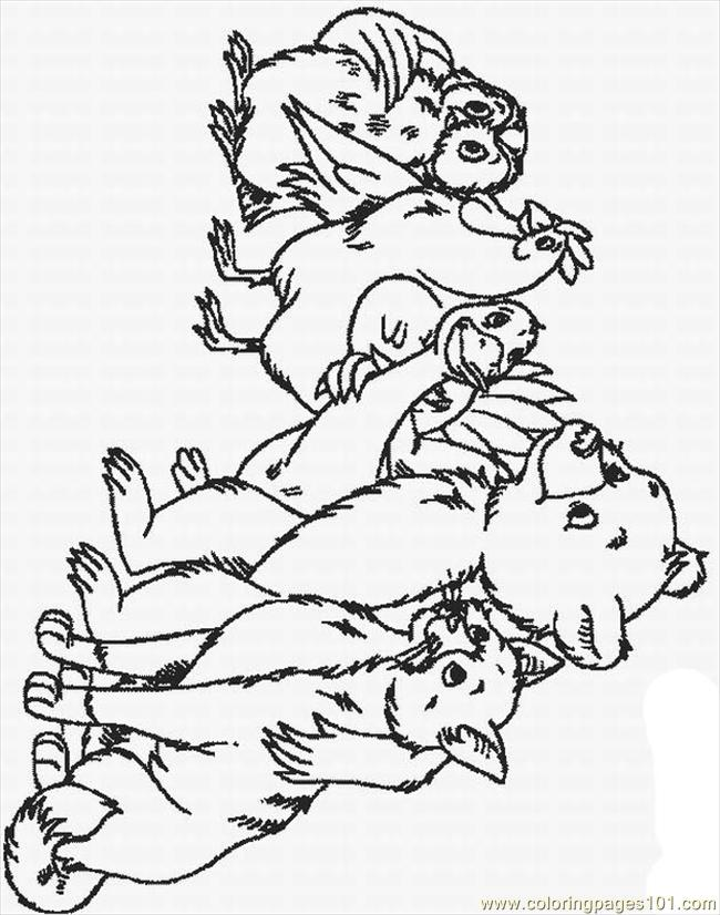 Re Bear 25 Lrg Coloring Page