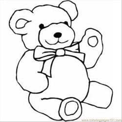 Teddy Bear Free Coloring Page for Kids