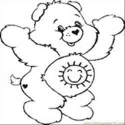 Care Bear 12 Free Coloring Page for Kids