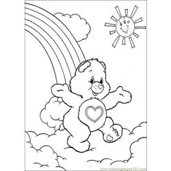 Care Bears1 Free Coloring Page for Kids