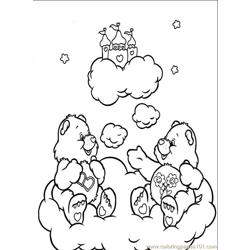 Care Bears3 Free Coloring Page for Kids