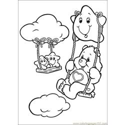Care Bears5 Free Coloring Page for Kids