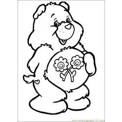 Care Bears 61 Free Coloring Page for Kids