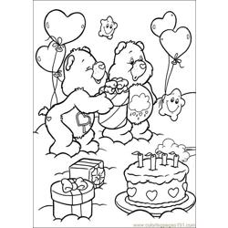 Care Bears6 Free Coloring Page for Kids