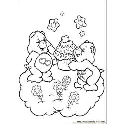 Care Bears7 Free Coloring Page for Kids