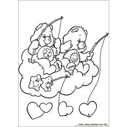 Care Bears8 Free Coloring Page for Kids