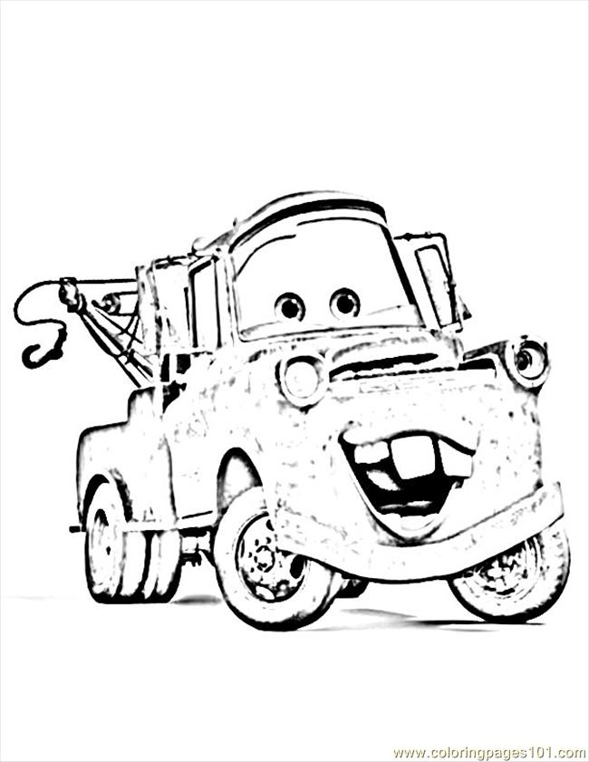 Carsmater Coloring Page