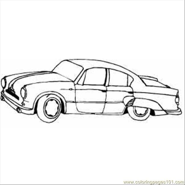 Classic Car With Wings Coloring Page