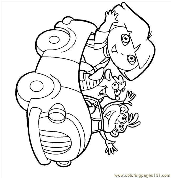 Dora Boots Tico Car Coloring Page Free Cars Coloring