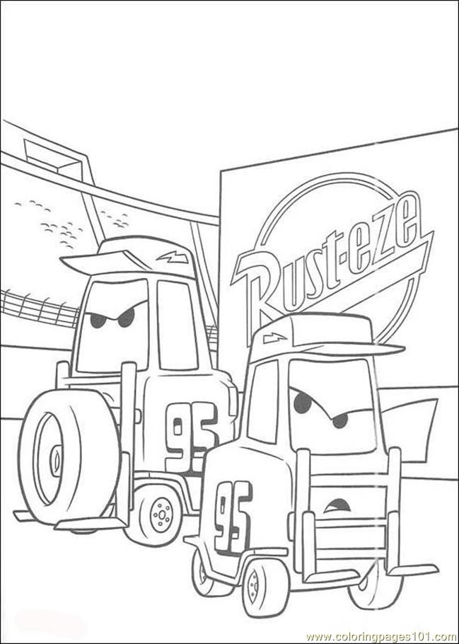 Cars N 10 38901 Coloring Page