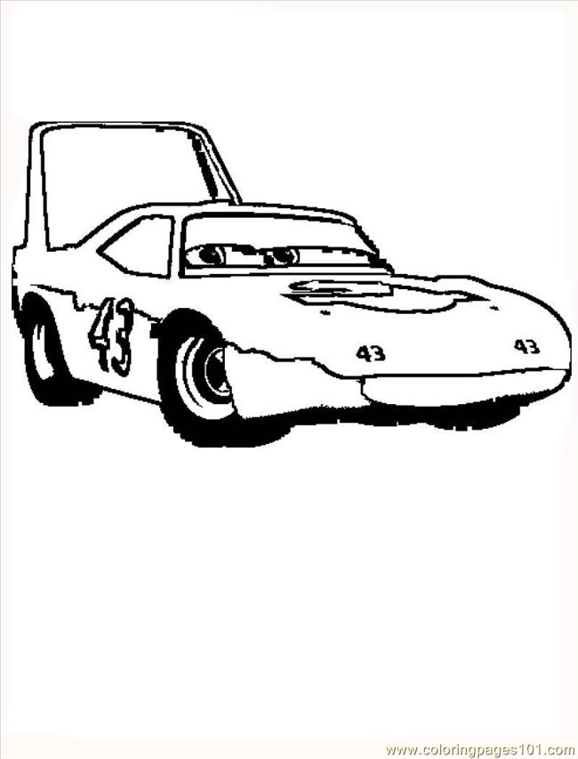 Disney Cars King Coloring Page