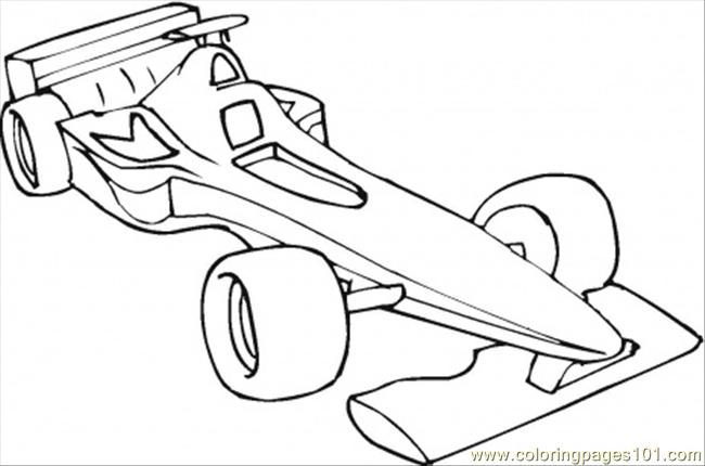 Formula One Car Coloring Page Coloring Page
