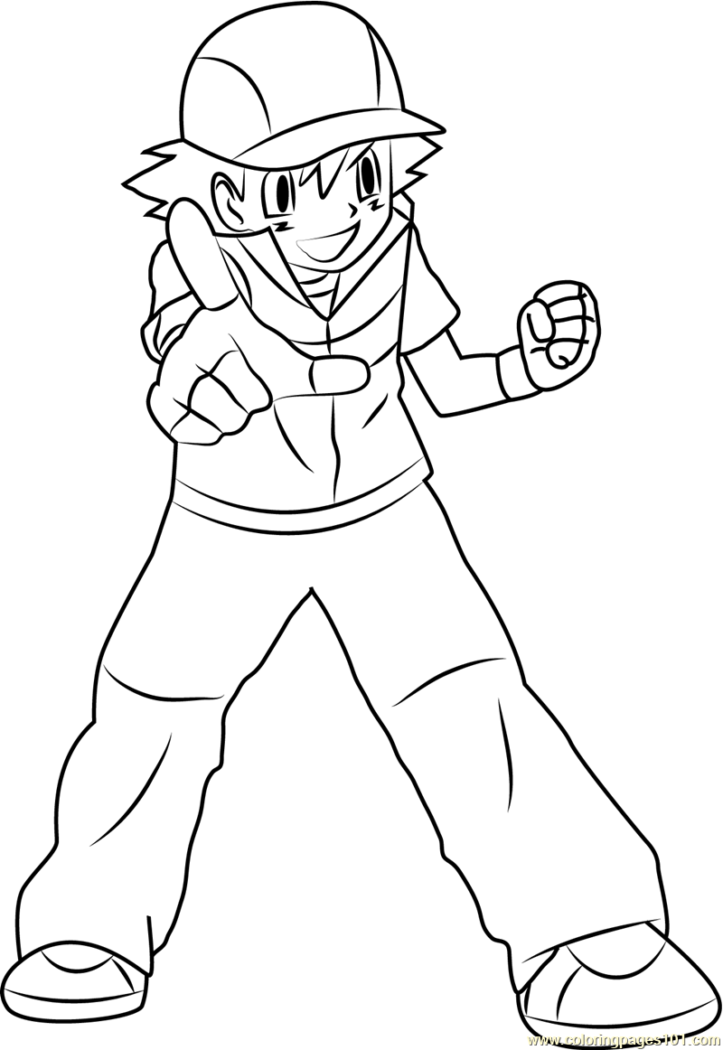ash ketchum coloring pages - photo#18