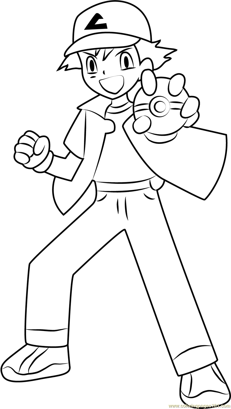 ash ketchum coloring pages - photo#16
