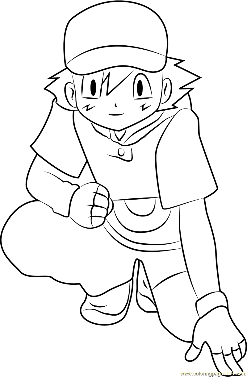 ash ketchum coloring pages - photo#27