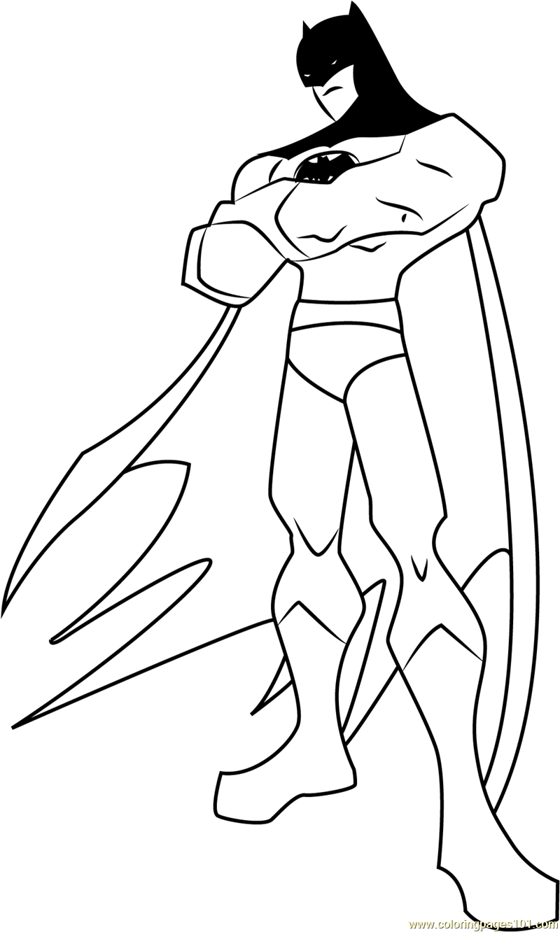 The Batman printable coloring page for kids and adults