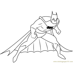Batman Look Free Coloring Page for Kids