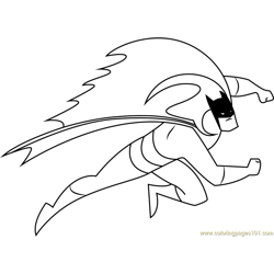 Batman Series Free Coloring Page for Kids