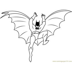 Comics Batman Free Coloring Page for Kids