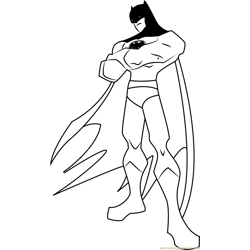 The Batman Free Coloring Page for Kids
