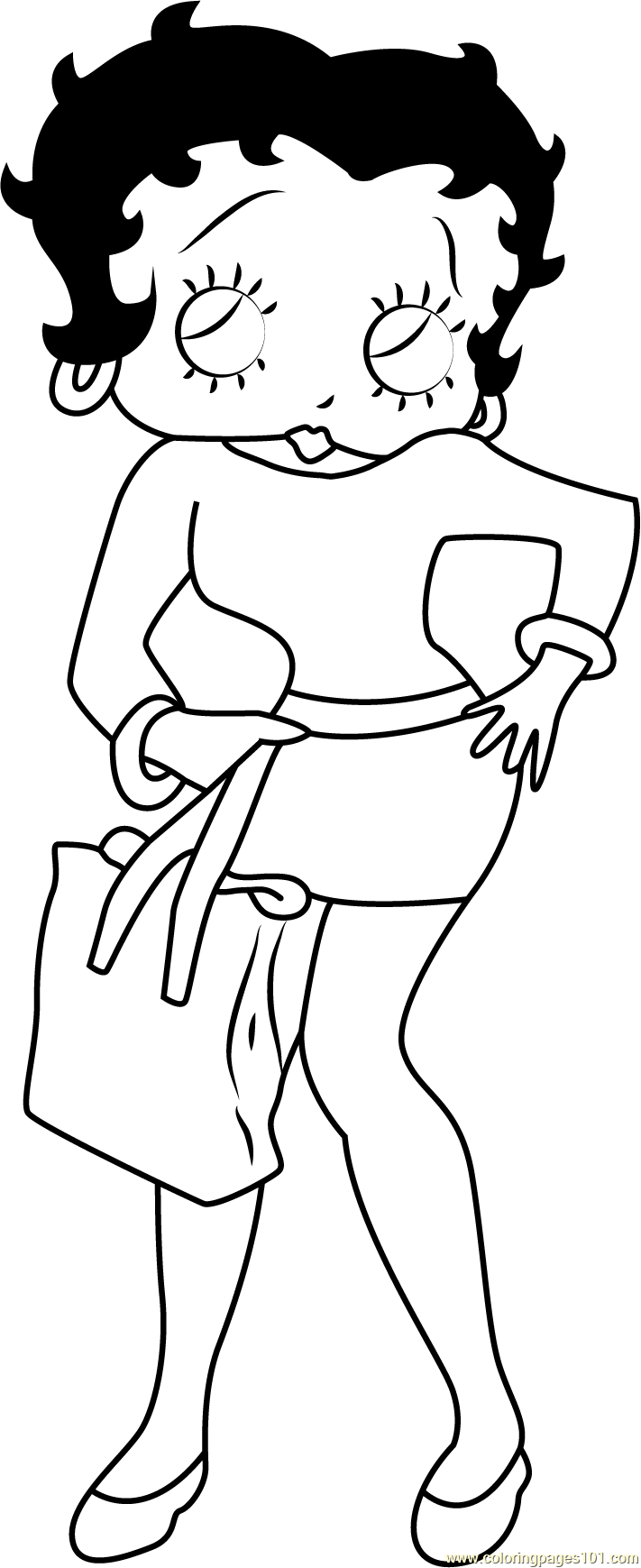 Betty Coloring Page Free Betty Boop Coloring Pages