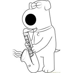 Brian Griffin Playing Saxophone