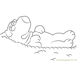 Brian Griffin Sleeping coloring page