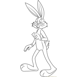 Bugs Bunny Hare coloring page