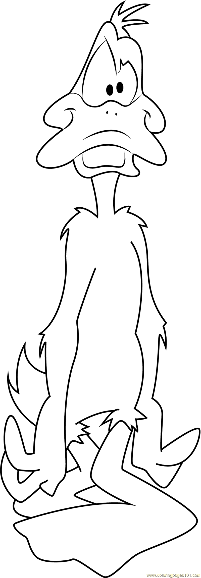 Daffy duck look at face coloring page free daffy duck for Duck face coloring pages