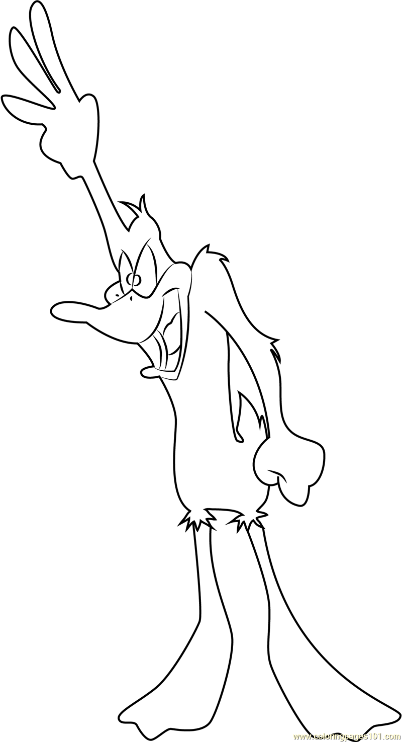 daffy coloring page free daffy duck coloring pages