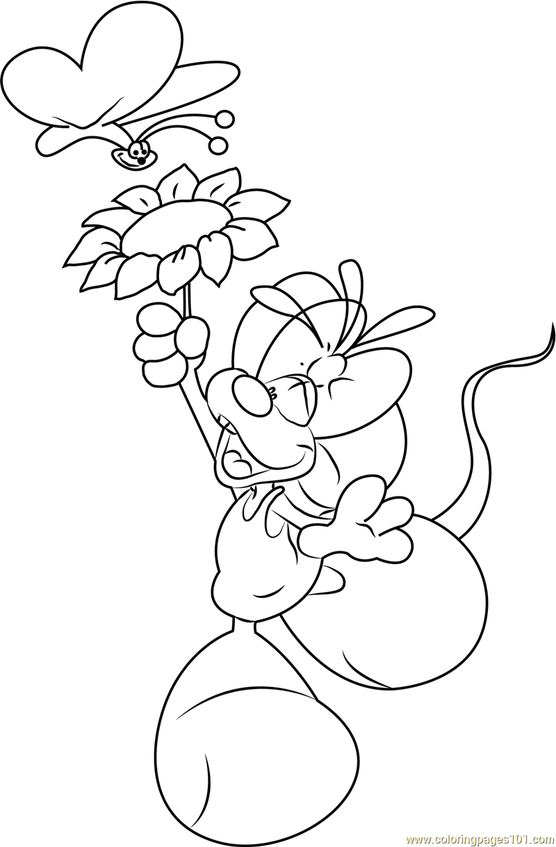 diddlina with butterfly coloring page free diddlina coloring