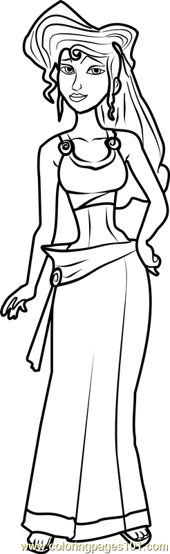 Princess Megara Coloring Page - Free Disney Princesses Coloring ...
