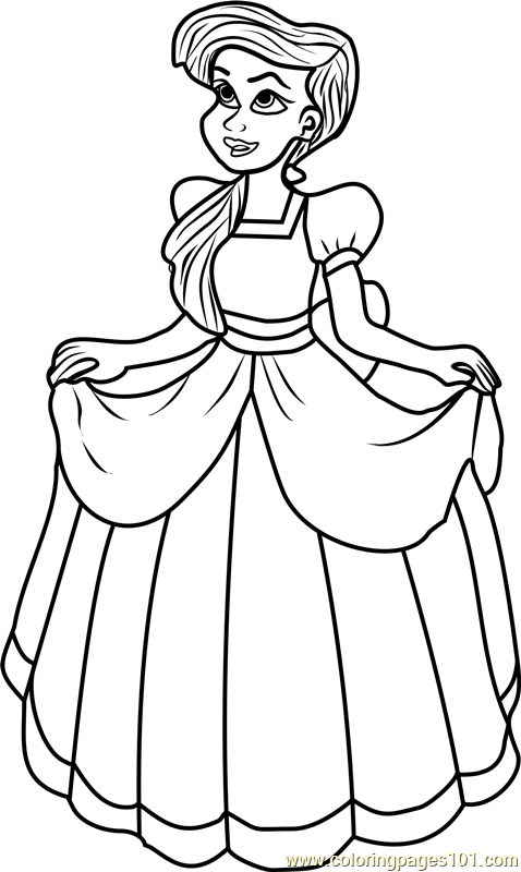 Princess Melody Coloring Page Free Disney Princesses