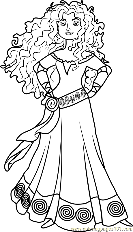 Amazing Princess Merida Coloring Page