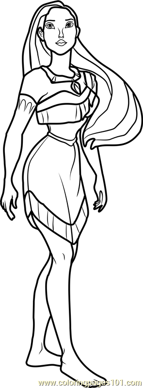 Princess Pocahontas Coloring Page For Kids Free Disney Princesses Printable Coloring Pages Online For Kids Coloringpages101 Com Coloring Pages For Kids