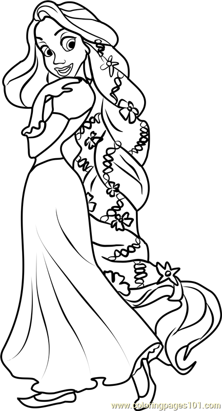 It's just a graphic of Rapunzel Printable Coloring Pages in tangled