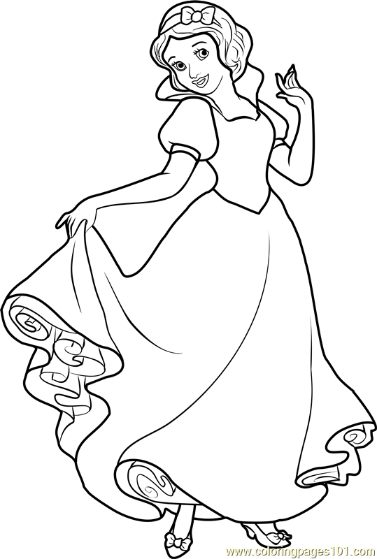 Princess Snow White Coloring Page - Free Disney Princesses Coloring ...