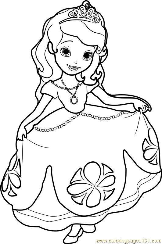 Princess Sofia Coloring Page Free Disney Princesses Coloring